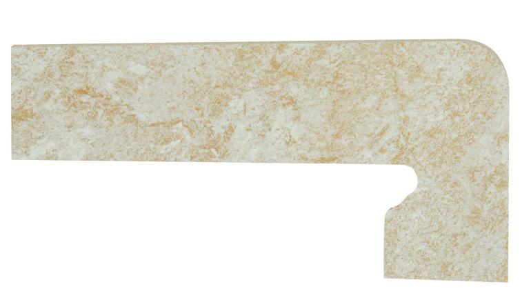 Mrazuvzdorný schodový sokl PETRA Bone 39,5 x 17,5 cm