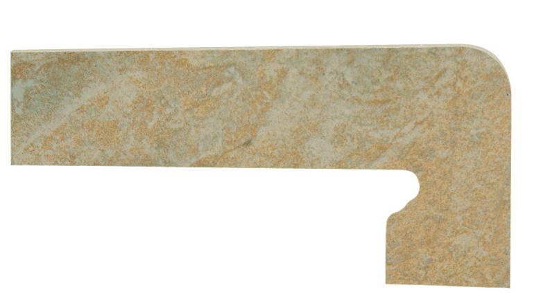 Mrazuvzdorný schodový sokl PETRA Ocre 39,5 x 17,5 cm