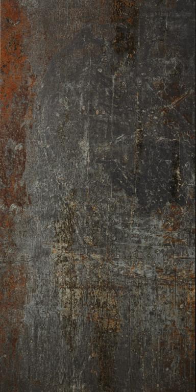 Velkoformátová kovová imitace CAST IRON Black Natural 60 x 120 cm