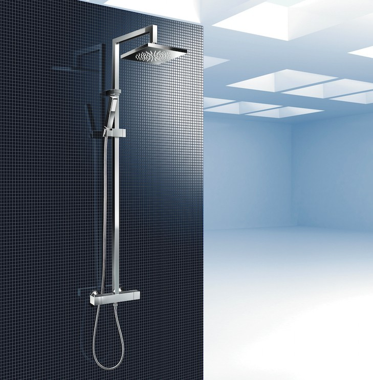 Sprchový panel s termostatickou baterií CUBICO Therm