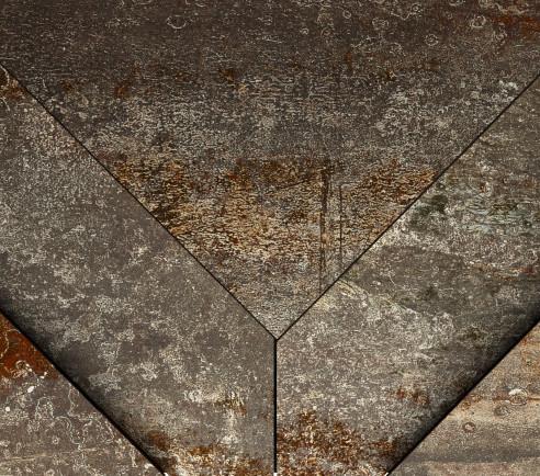 Velkoformátová kovová imitace CAST IRON Oxidum Decor Ramp 30 x 60 cm