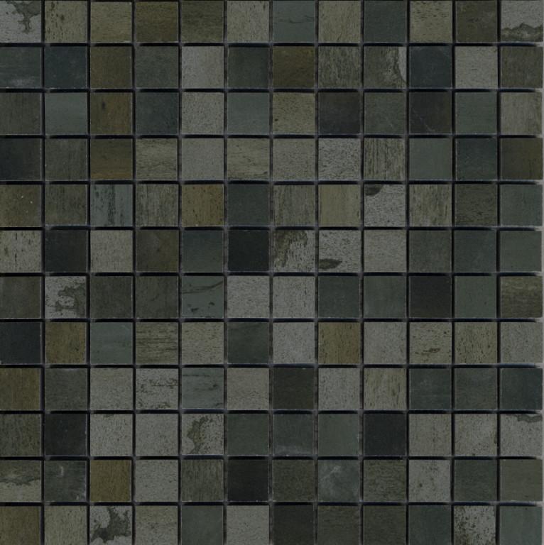 Mozaika se čtvercovým motivem METAL 2.0 Green Mosaico 30 x 30 cm