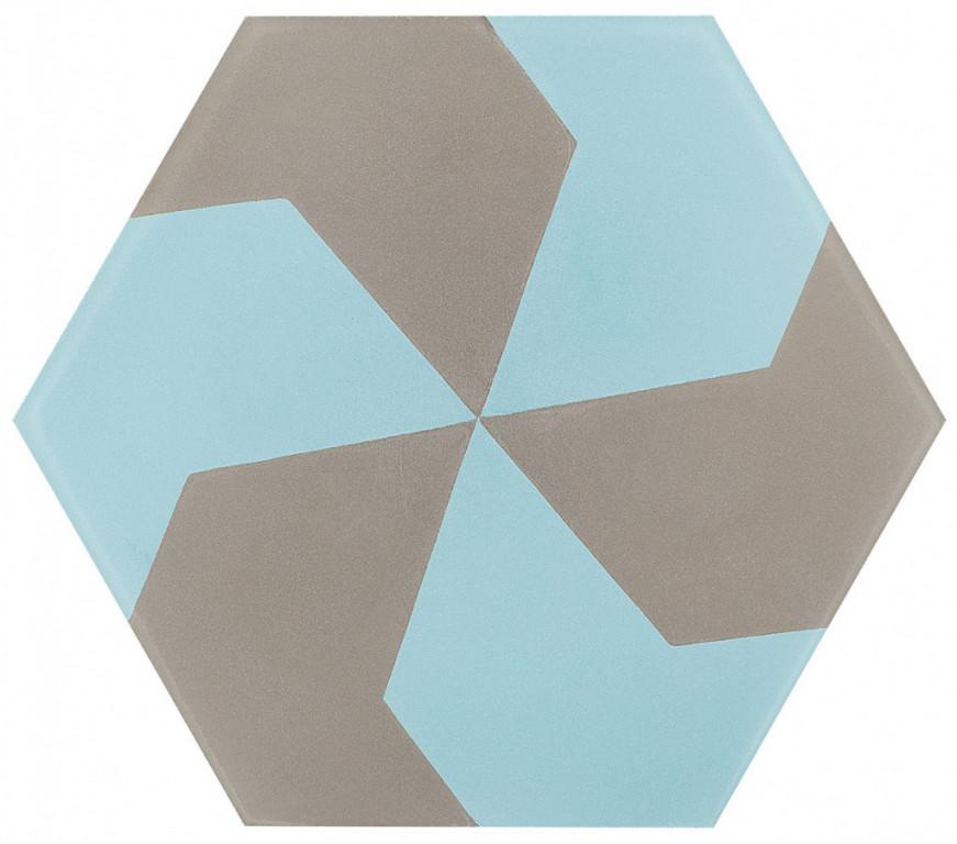 Šestiúhelníková dlažba DSIGNIO Play Grey-Blue 3 25,8 x 29 cm