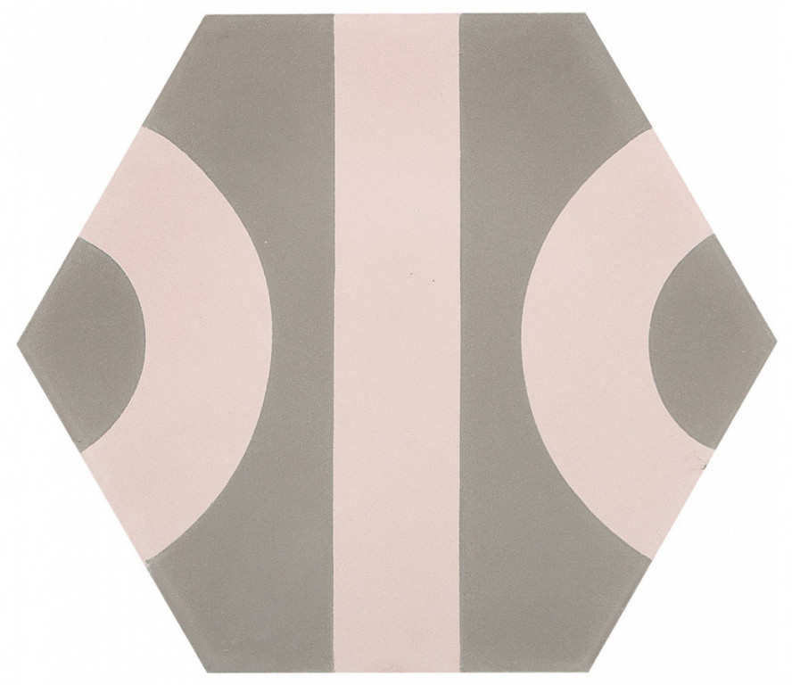 Šestiúhelníková dlažba DSIGNIO Roll Grey-Pink 25,8 x 29 cm