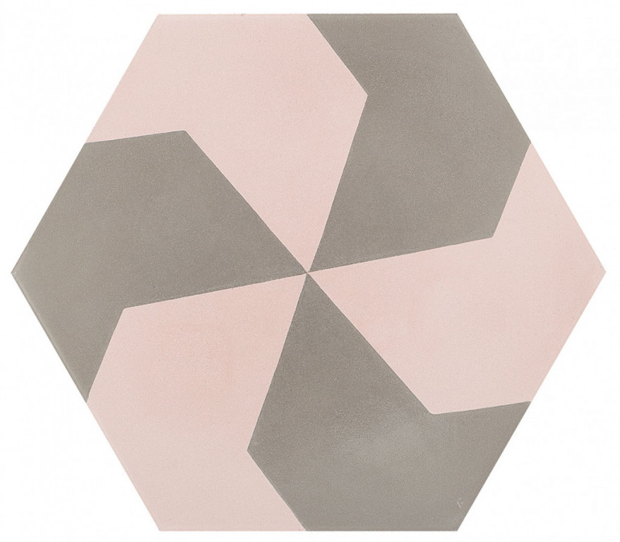 Šestiúhelníková dlažba DSIGNIO Play Grey-Pink 3 25,8 x 29 cm