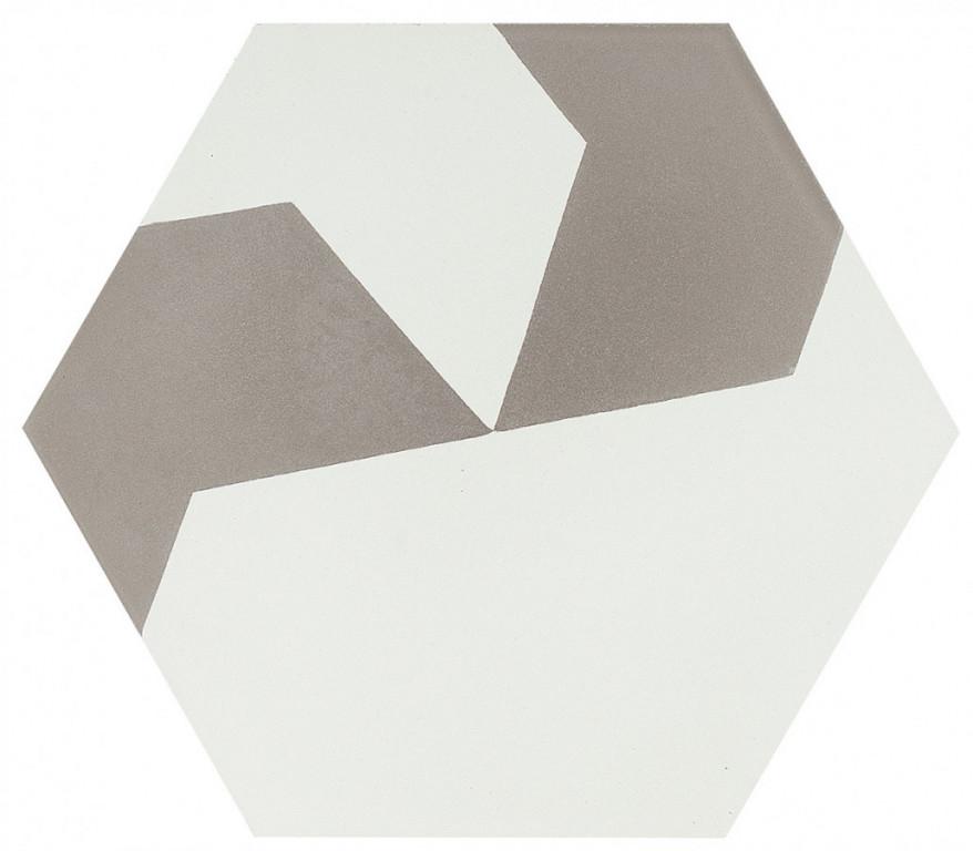 Šestiúhelníková dlažba DSIGNIO Play White-Grey 2 25,8 x 29 cm