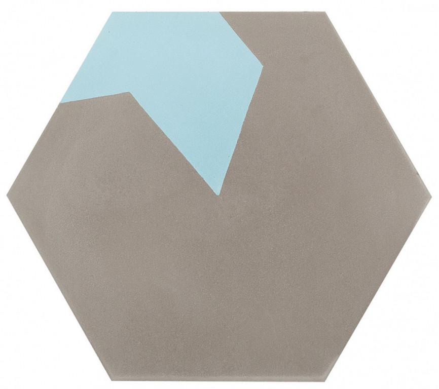 Šestiúhelníková dlažba DSIGNIO Play Grey-Blue 1 25,8 x 29 cm