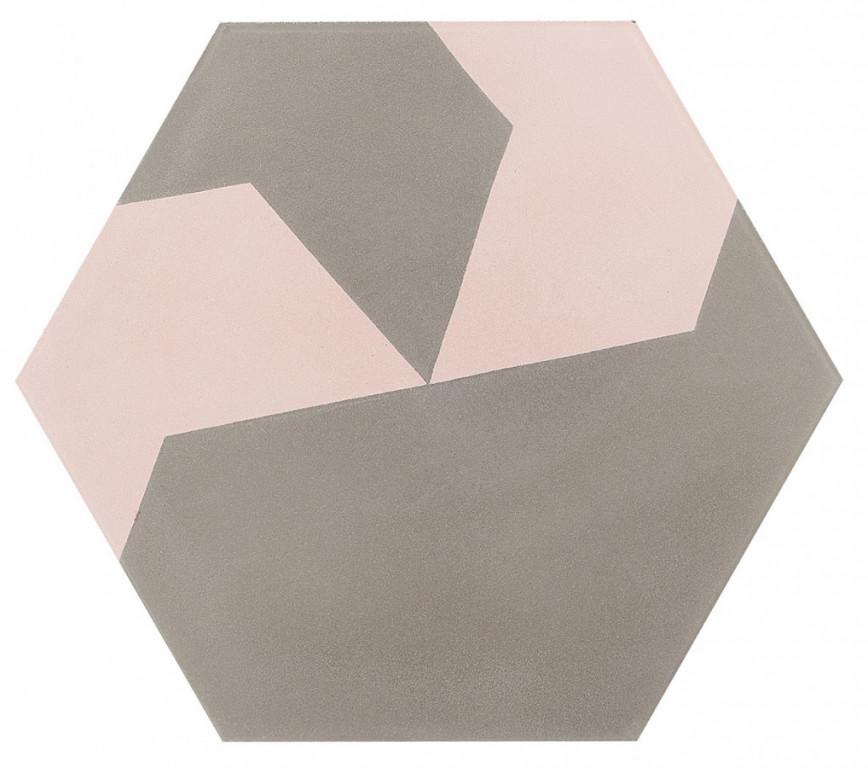 Šestiúhelníková dlažba DSIGNIO Play Grey-Pink 2 25,8 x 29 cm