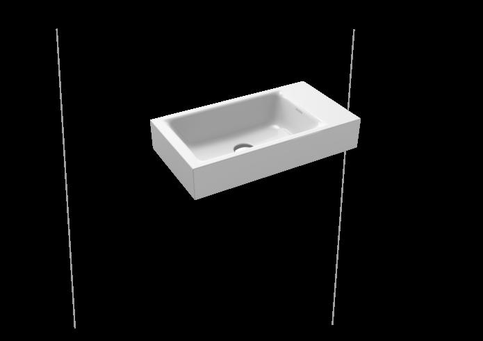 Umývátko na stěnu PURO 3162-0601 s otvorem pro 1 baterii, 55 x 30 x 10 cm, Perl-Effekt