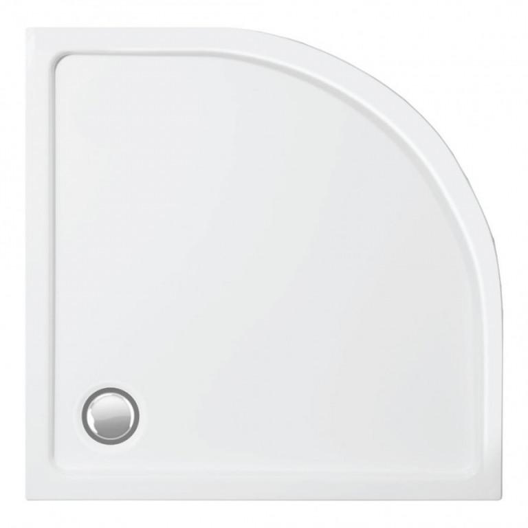 Sprchová vanička akrylátová, čtvrtkruh MERKUR 80 x 80 x 4cm, R550, bez sifonu