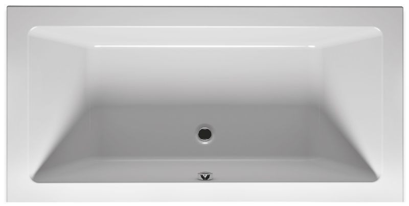 Bílá obdélníková akrylátová vana LUGO - tenkostěnná hrana