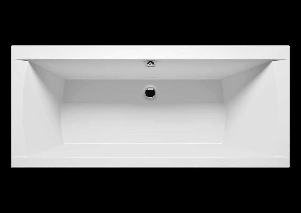 Bílá obdélníková akrylátová vana JULIA 160 x 70 cm