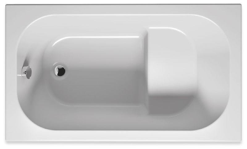 Bílá oválná akrylátová vana PETIT 120 x 70 cm