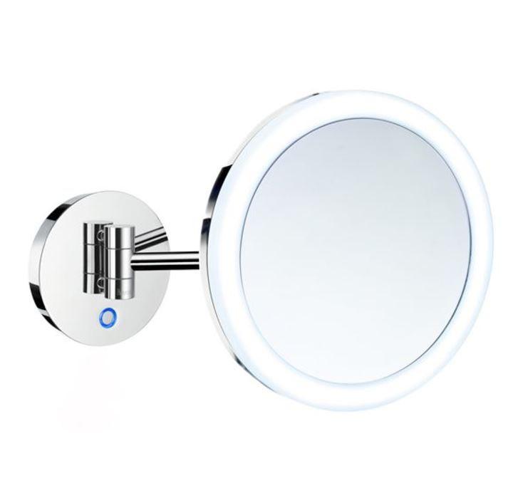 Kulaté kosmetické zrcátko s led osvětlením chrom OUTLINE 20 x 20 x 39 cm