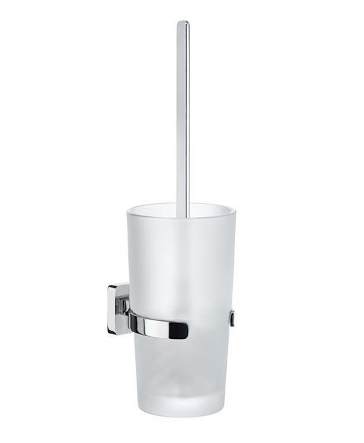 WC souprava závěsná sklo - chrom ICE