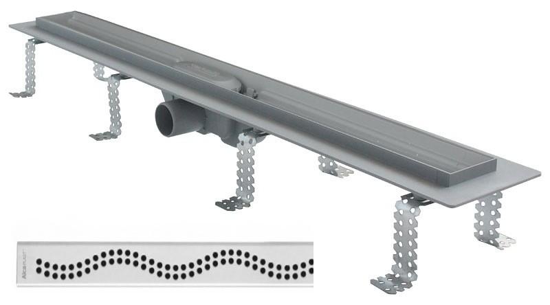 Podlahový žlab s okrajem pro perforovaný rošt Simple 75