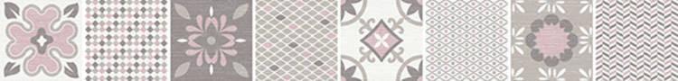 Listela s květinami HABITAT ROSA Mix 6x50 cm