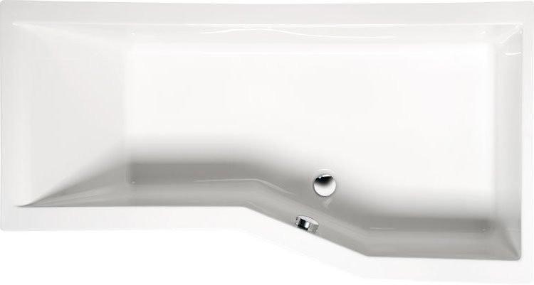 VERSYS P asymetrická vana s podstavcem pravá, bílá