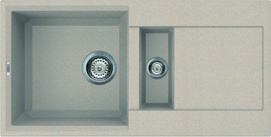 Kuchyňský dřez s odkapovou plochou Granitek EASY 425, 860 x 435 x 224-134 mm