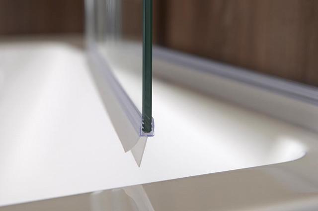 RUIZ vanová zástěna 900mm, čiré sklo