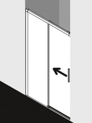 Dvoudílné posuvné dveře do niky NICA 100-180