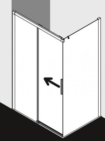 Dvoudílné posuvné dveře k boční stěně NICA 100 -160