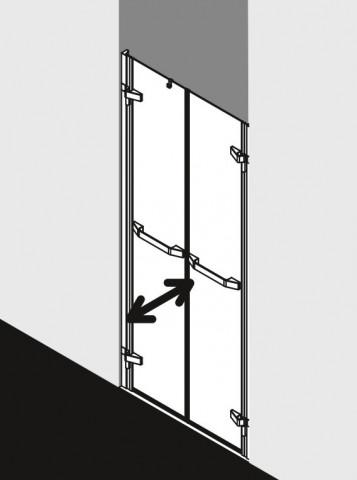 Atypické dvoukřídlé kyvné dveře do niky TUSCA PTD