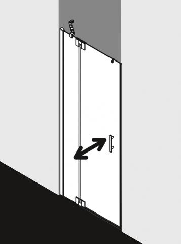 Jednokřídlé kyvné dveře do niky s pevným polem FILIA XP