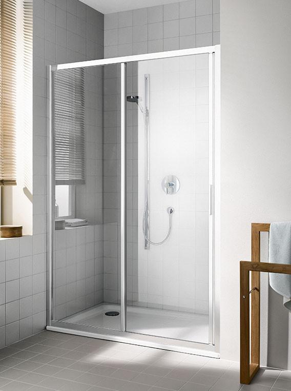 2-dílné posuvné dveře s pevným polem CADA XS, bílá/lesk, pravé/levé
