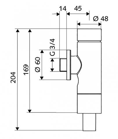 """Tlakový splachovač WC SCHELLOMAT Basic, chrom, 3/4"""" č.2"""