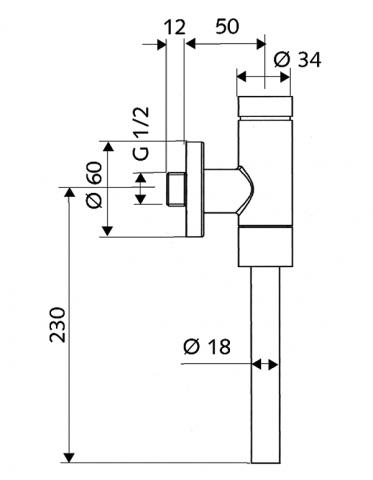 Tlakový splachovač pisoáru SCHELLOMAT BASIC s vnitřní spojkou
