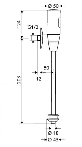 Infra-splachovač pisoáru SCHELLTRONIC 9 V
