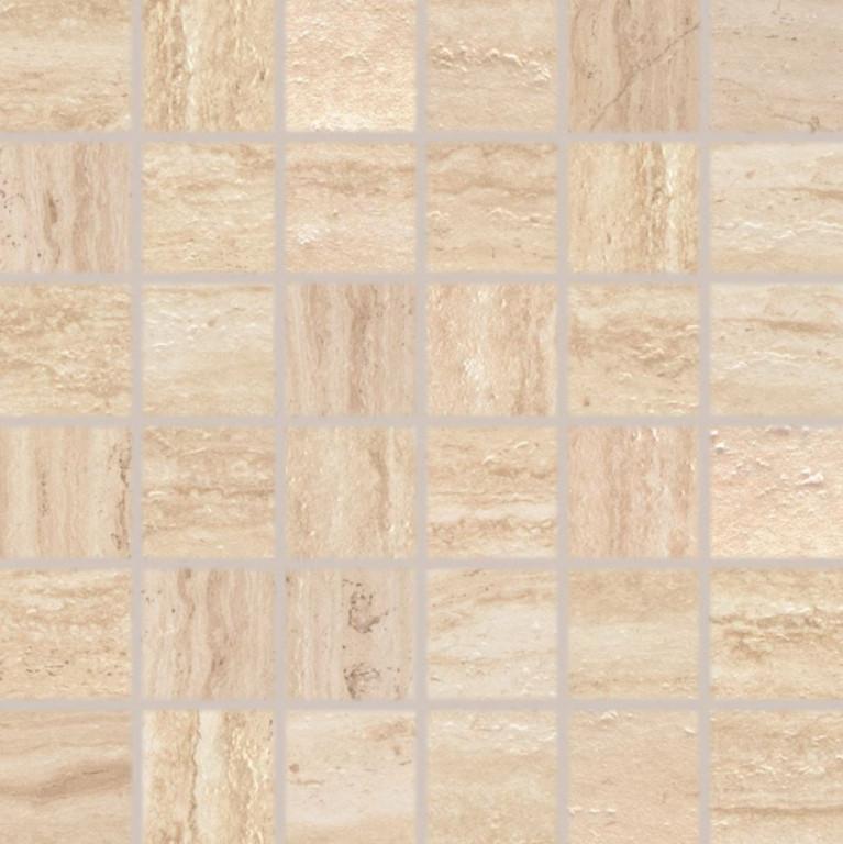 Mozaika v imitaci travertinu ALBA béžová 30 x 30 cm rett.