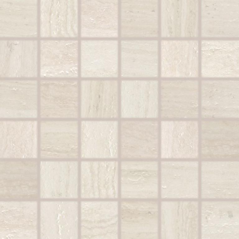 Mozaika v imitaci travertinu ALBA slonová kost 30 x 30 cm rett.