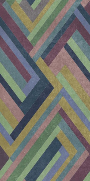 Tapetová dlažba retifikovaná WILD and STYLE Blocks Violet 120 x 240 cm