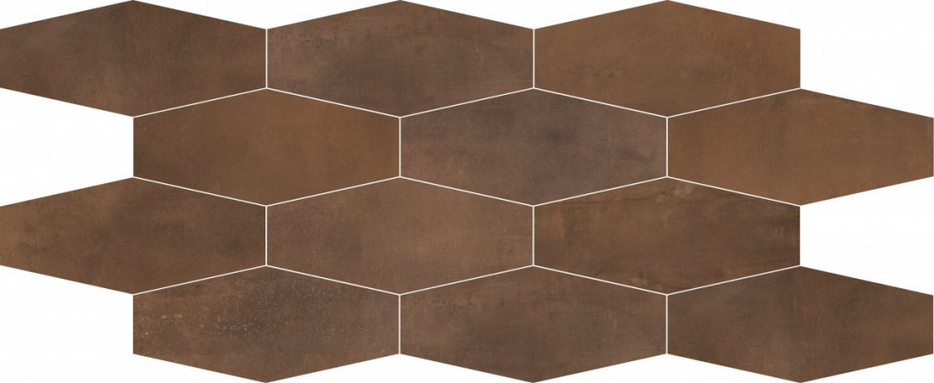 Metalická mozaika INTERNO Losagna Rust 30 x 60 cm