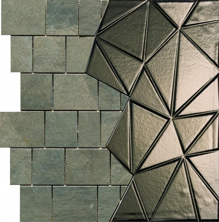 Mozaika CONCEPT STONE Antracite/Acciaio 40 x 40 cm
