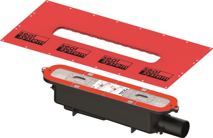 TECEdrainprofile sifon standard, boční odpad
