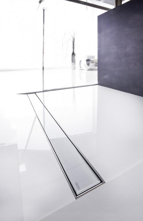 TECEdrainline skleněný kryt na žlábek, rovný, sklo bílé