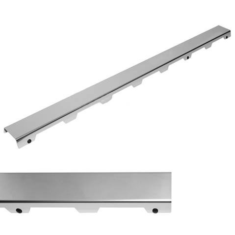 "TECEdrainline, designová mřížka ocelová leštěná, design ""steel II"""