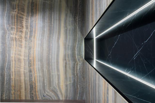 Velkoformátový obklad GREY ONIX VEIN CUT 150x300cm, rektifikovaný č.2