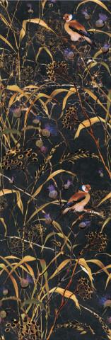 Dekor ASTORIA Birds Black 27x75cm, rektifikovaný č.1