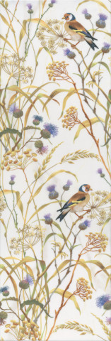 Dekor ASTORIA Birds White 27x75cm, rektifikovaný č.1