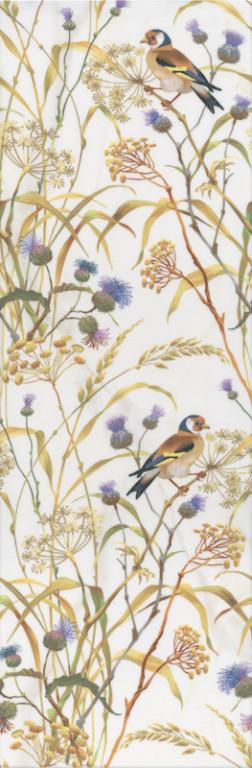 Dekor ASTORIA Birds White 27x75cm, rektifikovaný