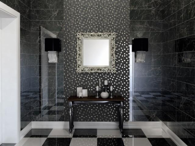 Elegantní dlažba v imitaci mramoru ASTORIA Black 50,2x50,2cm, lappato č.2