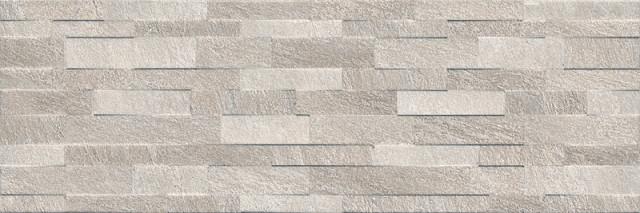 Velkoformátový obklad v imitaci betonových pásků GRENELLE Grey 30 x 89,5 cm