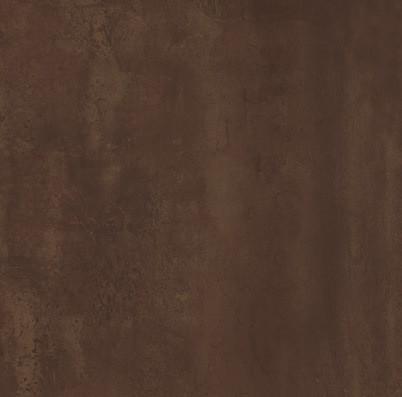 Velkoformátová dlažba v imitaci plechu MINERAL Bronze rett. 75 x 75 cm