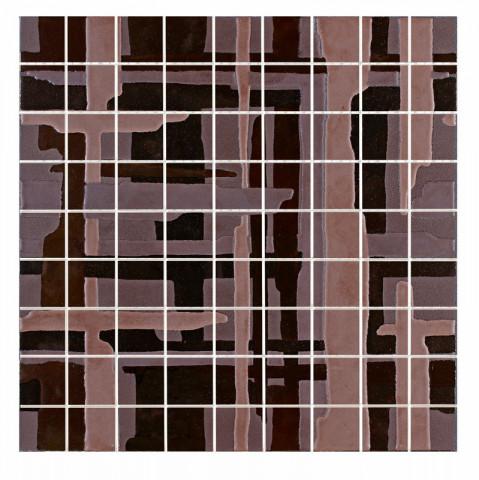 Mozaika MINERAL Bronze rett. 37,5 x 37,5 cm