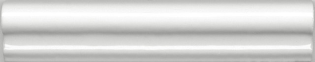 Interiérový lesklý dekor CLEMENCEAU White 3x15cm č.1