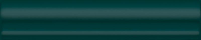 Interiérový lesklý dekor CLEMENCEAU Dark Green 3x15cm
